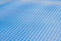 Pool cover. Solar Pool Cover, bubble texture, blue Royalty Free Stock Photos