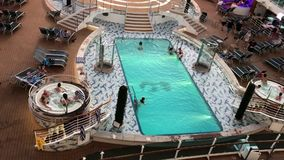 Pool on Cruise Ship stock video
