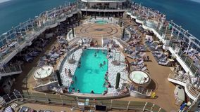 Pool on Cruise Ship stock video footage