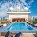 Pool on a cruise ship Royalty Free Stock Image