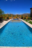 Pool. Crystal clear blue swimming pool royalty free stock photo