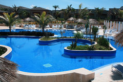 Pool on a Cuba Resort. Eurostar Resort, Cayo Santa Maria, Cuba Stock Photo