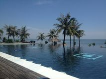 Pool in Danang, Vietnam Royalty Free Stock Photography