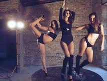 Pool-dansers Stock Foto's