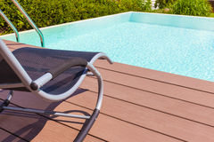 Pool deck chair Royalty Free Stock Photos