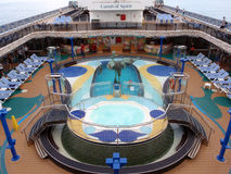Pool deck of Cruise ship Stock Photography