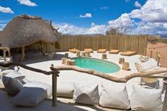 Pool of a luxury Lodge Namib-Naukluft Park Namibia stock photography