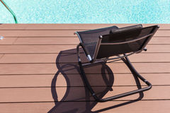 Pool deckchair Stock Image