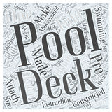Pool Decks the Perfect Accessory for Aboveground Pools word cloud concept word cloud concept vector background Royalty Free Stock Image