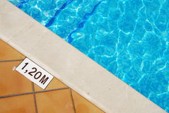 Pool depth Stock Photography