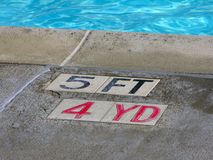 Pool depth. Depth of a pool Royalty Free Stock Image