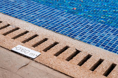 Pool and depth indicator Stock Photography