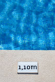 Pool depth sign. Top view of a pool depth sign Stock Images