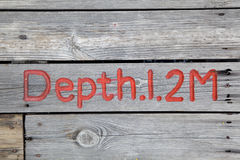 Pool depth sign Royalty Free Stock Photos
