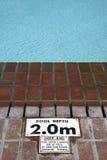 Pool depth sign Stock Image