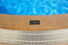 Pool depth sign. Royalty Free Stock Photos