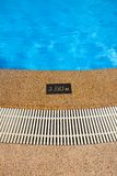 Pool depth sign. Stock Images