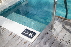 Pool depth sign Royalty Free Stock Photography