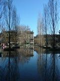 Pool in der Stadt stockbild