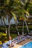 Pool des Decameraon-Aquarium-Hotels in San Andres Island Lizenzfreie Stockfotos