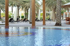 Pool des Hotels Stockfoto