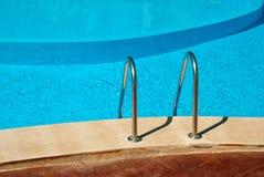 Pool detail. Swimming pool in a resort, detail royalty free stock images