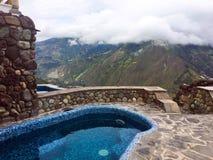 Pool die bergen, banos Ecuador overzien Royalty-vrije Stock Foto