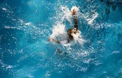 Pool dive - splash Royalty Free Stock Images