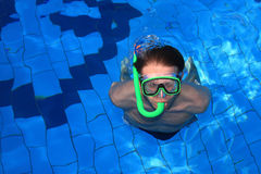 Pool Diver Stock Images