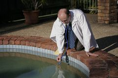 Pool-Doktor Stockfotos