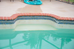Pool Draining Stock Photo