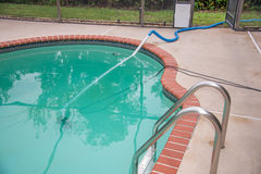 Pool Draining Royalty Free Stock Photos