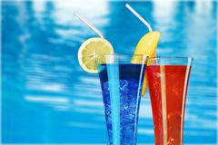 Pool drinks Royalty Free Stock Image