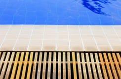Pool edge. And mesh swimming pool Stock Photography