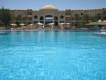 Pool  in egypt Stock Photos