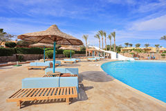 Pool in Egypt resort Royalty Free Stock Photos