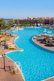 Pool in Egyptian hotel Stock Image
