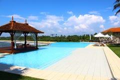 Pool en gazebo in Saman Villas Stock Foto's
