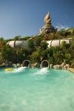 Pool en toboggan in het Park van Siam, Tenerife Stock Foto