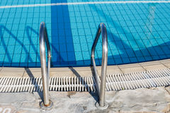 Pool entrance ladder Stock Photography