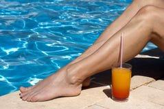 Pool entspannen sich Lizenzfreies Stockfoto