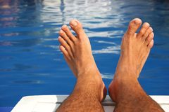 Pool Feet Royalty Free Stock Photo