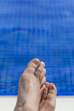 Pool feet Royalty Free Stock Photos