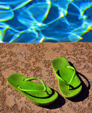 Pool Flip Flops Sandals Summer Fun Stock Images