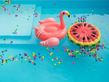 Pool Floaties colorful Royalty Free Stock Photography
