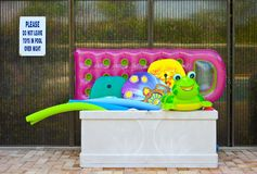 Free Pool Floats In Container Stock Image - 110034051