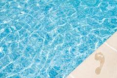 Pool footprint stock images