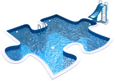 Pool in the form of a puzzle Stock Images