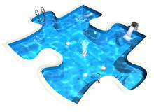 Pool in the form of a puzzle Royalty Free Stock Photos