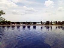 Pool front lake royalty free stock photo